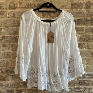 NWT LF Lace Lined Blouse